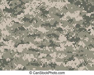 Vector illustration of modern camouflage pattern in pixels