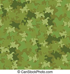 camouflage, seamless, baggrund., skovland, style.