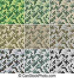 Camouflage seamless - Illustration of digital camouflage #2...