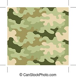 Camouflage seamless pattern, background