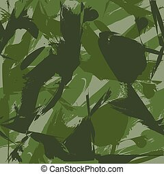 Camouflage seamless pattern. Can be used for background design, military textile.