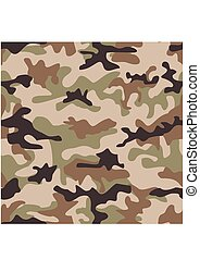 Camouflage seamless pattern. Shapes of foliage and branches....
