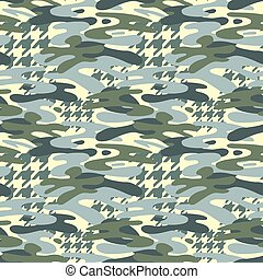 Camouflage seamless pattern, trendy style  background.