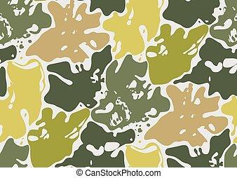 camouflage, seamless, pattern.