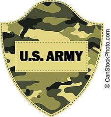 Camouflage shields U.S. Army. Vector