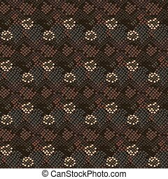 Camouflage snake stains seamless vector pattern.