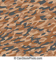 Camouflage Textile Pattern Brown
