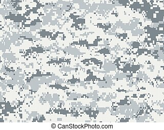 Camouflage texture snow - Vector texture of white and gray...