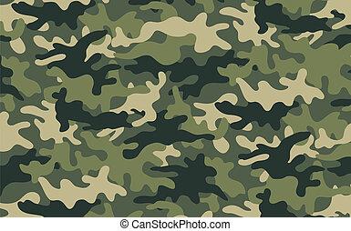 Camouflage - Vector illustration of green khaki camouflage...