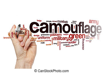 Camouflage word cloud concept