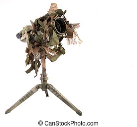 Camouflaged Telescope - Heavily camouflaged military style...