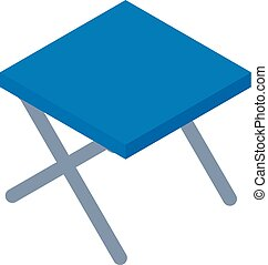Camp chair icon, isometric style