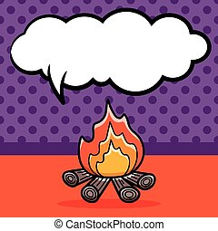 camp fire doodle