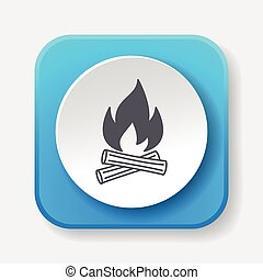 camp fire icon