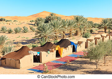 Camp in desert