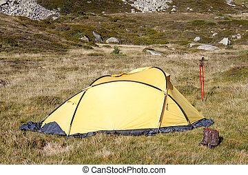 Camp in mountain