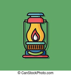 camp light vector icon