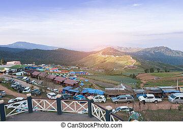 Camp on Phu Tab Berk