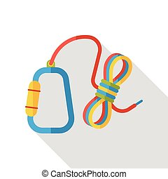 camp rope flat icon