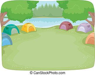 camp,  site