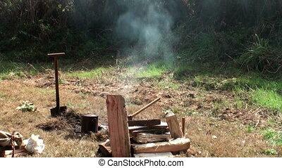 Camp site fire
