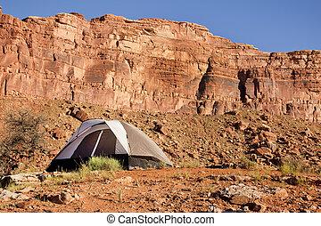 Camp site in the Utah Desert