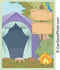 Camp Tent Board