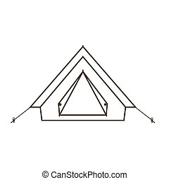 Camp tent icon.