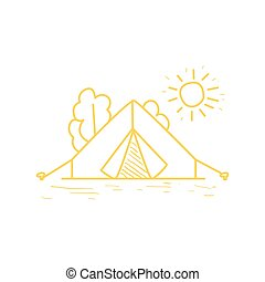 Camp Tent Under The Sun