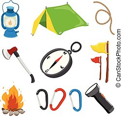 camp vector collection design
