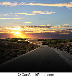 campagna, strada asfaltata