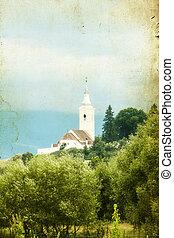 campagna, vecchio, chiesa