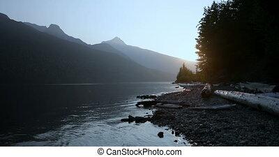 campagne, 4k, montagnes, rivière