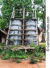 campagne, eau, thaïlande, ciment, tour