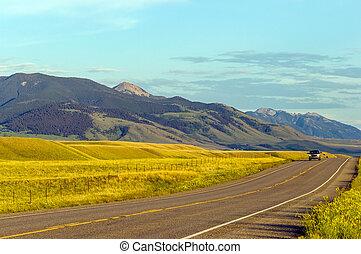 campagne, montana, ensoleillé