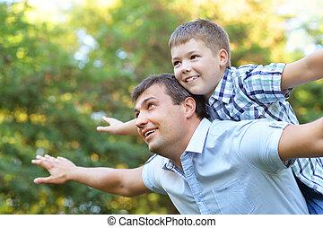 campagne, père, fils