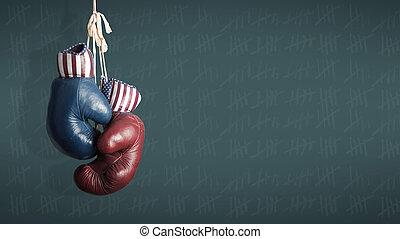 campagne, republikeinen, -, verkiezing, 2014, dag,...