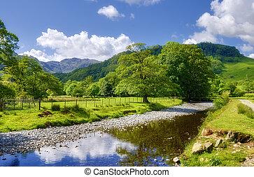 campagne, rivière