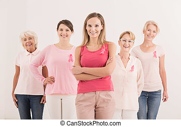 Campaign organized by women for the fight against cancer