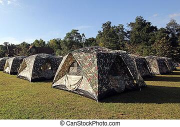 campamento, tiendas