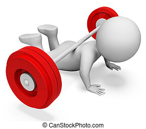 campana de la barra, gimnasio, débil, barra con pesas, ...