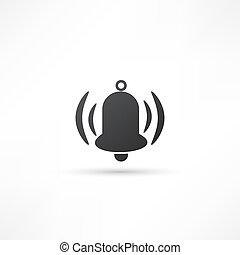 campana, resonante, icono