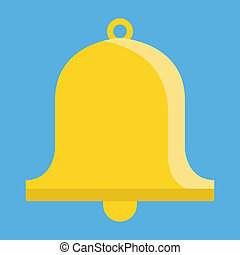 campana, vector, icono
