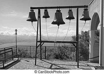 campanario, en, el, monasterio, de, s., patapios