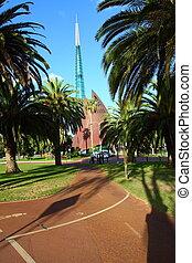 campanario, en, perth, australia.