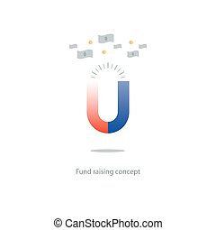 campanha, conceito, fundo, investimentos, levantamento, atraindo