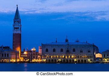 Campanile and Palazzo Ducale, Venice - Campanile di San...