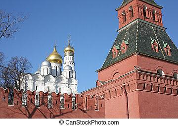 campanile, di, ivan, il, grande, e, parete kremlin