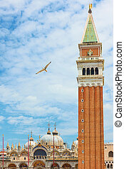 Campanile in Venice - The Campanile in The Saint Mark's ...