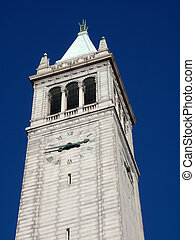 campanile, sather, uhr, kalifornien turm, turm